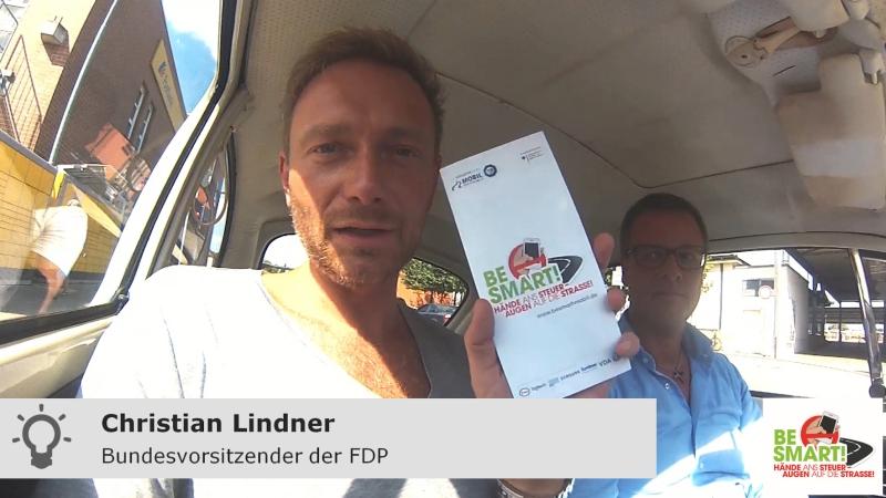 Christian Lindner im Auto