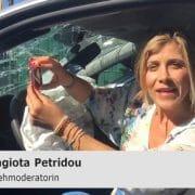 Panagiota Petridou im Auto