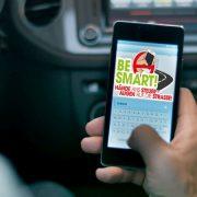 BeSmart Logo auf einem Smartphone