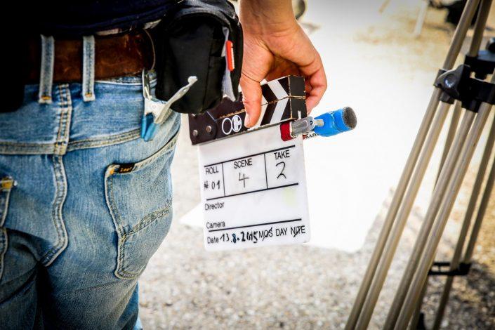 Eine Filmklappe