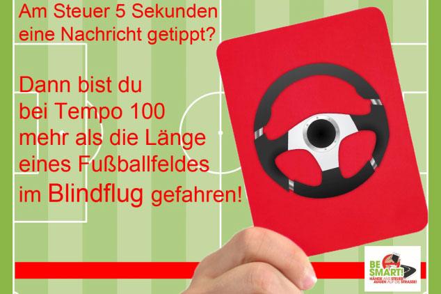 Fußballfeld-Blindflug-Grafik
