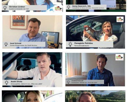 Prominente in Videos gegen Handynutzung am Steuer