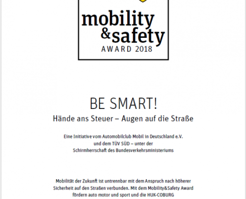 auto motor und sport mobility safety Award 2018 BE MART!