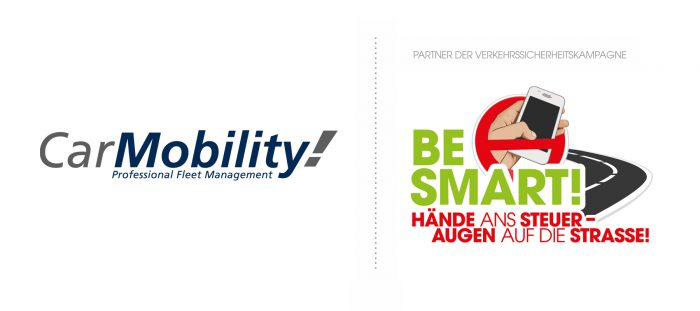 Kooperation: Logos von CarMobility & BE SMART! groß
