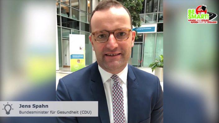 Videobotschafter Jens Spahn mit klarer Message gegen Smartphone am Steuer