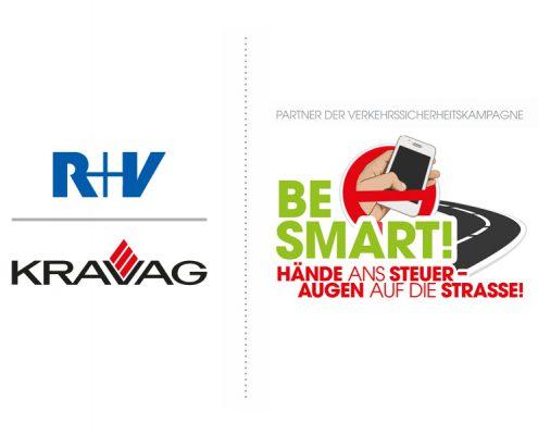 R+V & KRAVAG sind Partner der Verkehrssicherheitskampagne BE SMART!