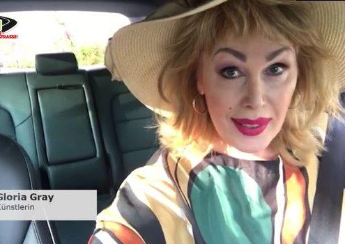 Videobotschaft von Künstlerin Gloria Gray gegen Handy am Steuer
