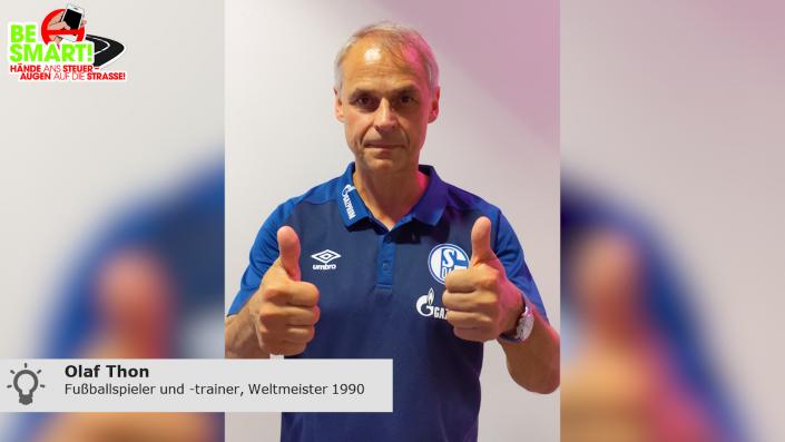 Fußball-Legende Olaf Thon warnt vor den Gefahren der Ablenkung am Steuer